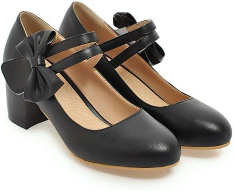 xie Rude avec Velcro Chaussures de femmes de talon moyen