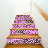 6PCS Valentine's Day DIY Stair Sticker Cozy Pattern Removable Home Decor for Ceramic Tiles (D)