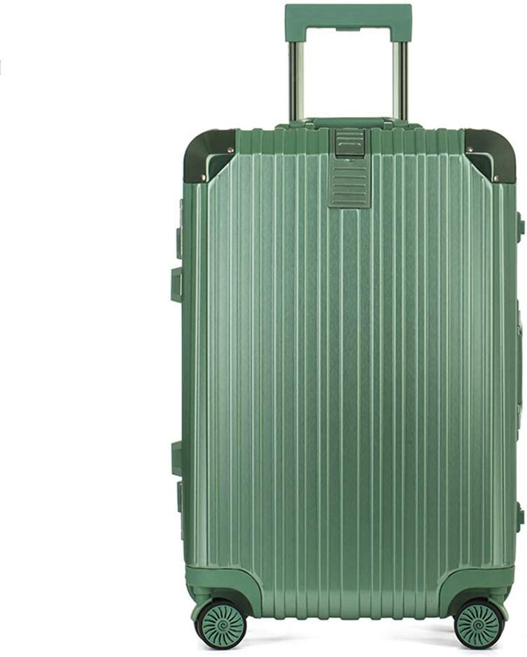 Color : Green - Scratch Resistant, Size : 24 inches Z/&YY Aluminum Frame Trolley case Universal Wheel Business Suitcase Student Suitcase Male and Female Boarding Lock Box 20//24//26//28 inch