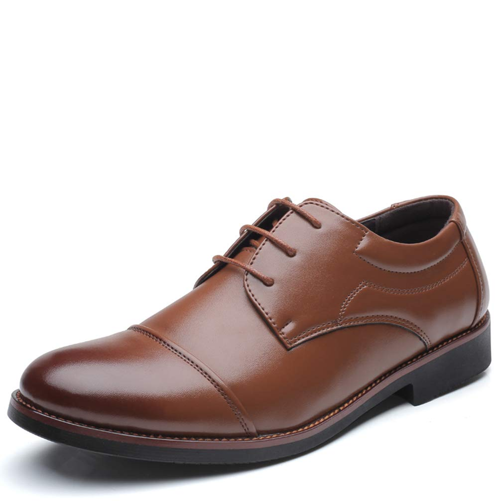 Phil Betty Mens Business Formal Dress Shoes Big Size Round Toe Lace-up Oxford Shoes by Phil Betty