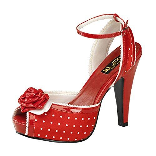 Peeptoe Sandale rot, Damen, Rot, Größe 36