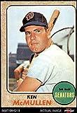 1968 Topps # 116 Ken McMullen Washington Senators (Baseball Card) Dean's Cards 3 - VG Senators