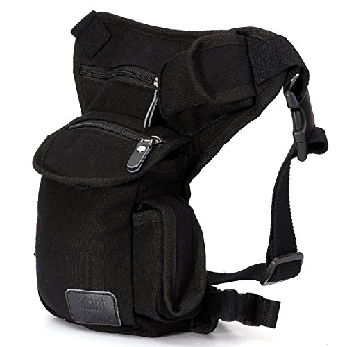 Racing Mens Bike (ELEGIANT New Men Multi-purpose Racing Drop Leg Bag Motorcycle Outdoor Bike Cycling Thigh Tactical Bag Black)