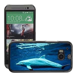 GoGoMobile Etui Housse Coque de Protection Cover Rigide pour // M00124037 Dolphin Mamíferos Marinos Animales del // HTC One M8
