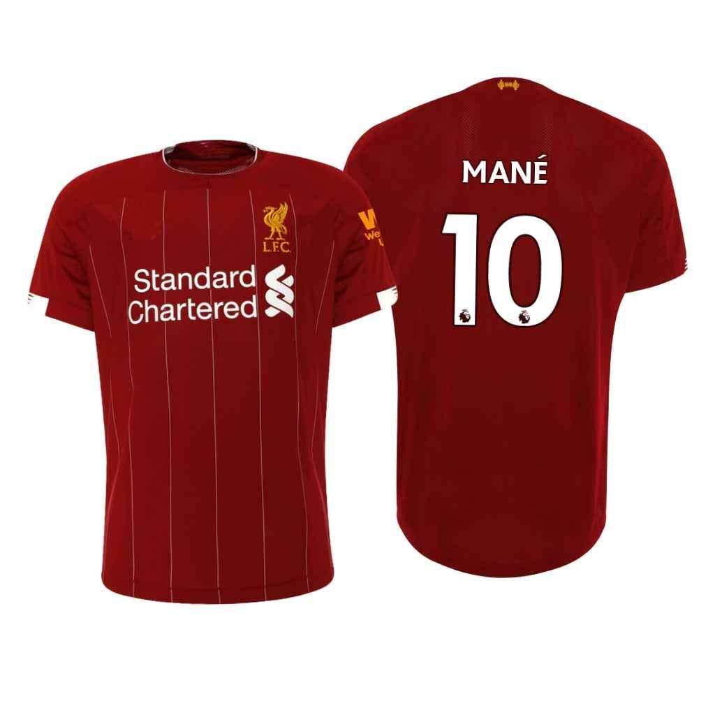 Maglia Sadio man/é Liverpool Rossa,Maglia Sadio man/é 2019//20 per Ragazza e Uomo