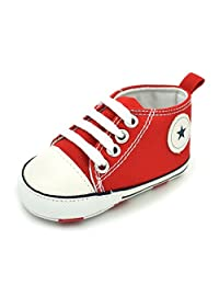 Zhengpin Fahsion Infant Boy Girl Crib Shoes Soft Sole Lace Up Cotton Cloth Sneaker Shoes