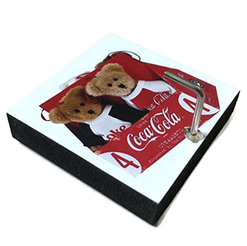 Agility Bathroom Wall Hanger Hat Bag Key Adhesive Wood Hook Vintage Teddy Bear & Coca Cola's Photo