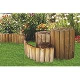 Recinto arrotolato per giardino 6x20x250 cm per frangia di verdure, aiuole di legno - 100% FSC della Gartenpirat®