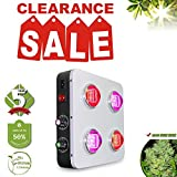 LED Grow Light Full Spectrum 2 Dimmers 100W COB B400 400W for Hydroponic Indoor Plants Veg and Bloom BloomBeast