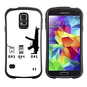 Hybrid Anti-Shock Bumper Case for Samsung Galaxy S5 / Pod And Gun