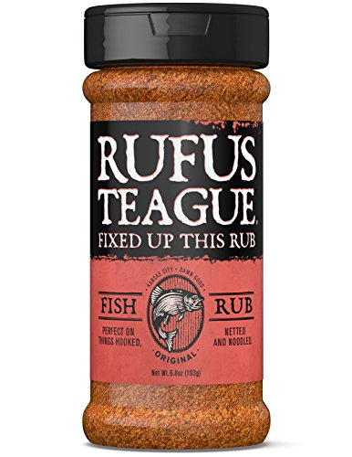 Rufus Teague FISH RUB - 6.8oz Shaker - Amazing Seasoning for All Seafood & Veggies - Premium Herbs & Spices - Certified Gluten-Free & Kosher