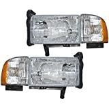 Dodge Ram Headlights OE Style Replacement Headlamps Driver/Passenger pair New W/O Sport