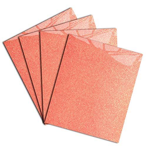 Neon Red Glitter Heat Transfer Vinyl DIY HTV for T-Shirt 12