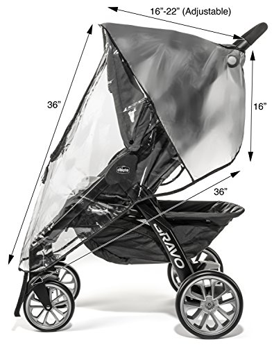 Weltru Premium Stroller Cover Weather Shield, Easy in/Out Zipper, Universal Size, Waterproof, Protects Against Wind, Rain, Snow, Insects by Weltru (Image #5)