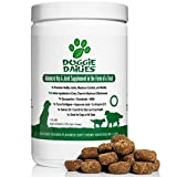 Doggie Dailies Glucosamine for Dogs: 225 Soft Chews, Advanced Hip and Joint Supplement with Glucosamine, Chondroitin, MSM, Hyaluronic Acid, and CoQ10, Premium Joint Relief for Dogs, Made in the USA