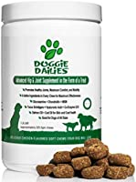 Doggie Dailies Glucosamine for Dogs: 225 Soft Chews, Advanced Hip and Joint Supplement with Glucosamine, Chondroitin...
