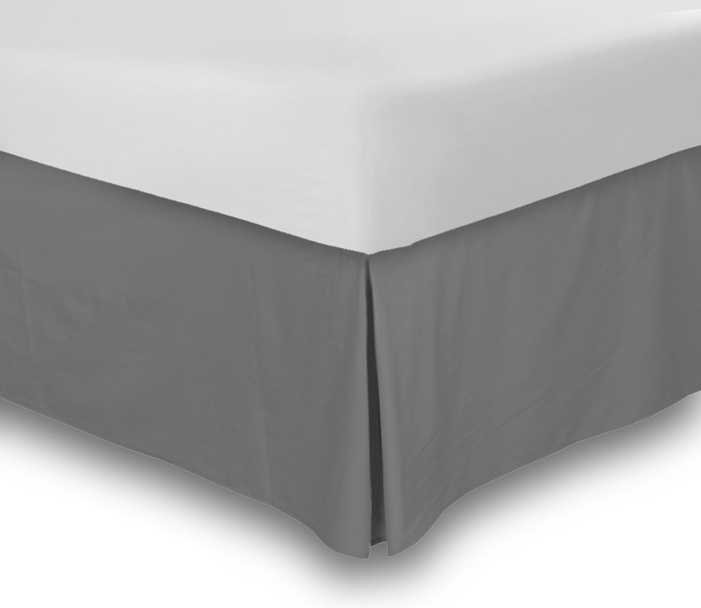 They can be three-sided, meaning the skirt shows on the two long sides and slimmer foot portion of the bed. Or they can be four-sided, with the skirt falling on all sides. Four-sided bed skirts are necessary only if the bed configuration in the room exposes the head of the bed.