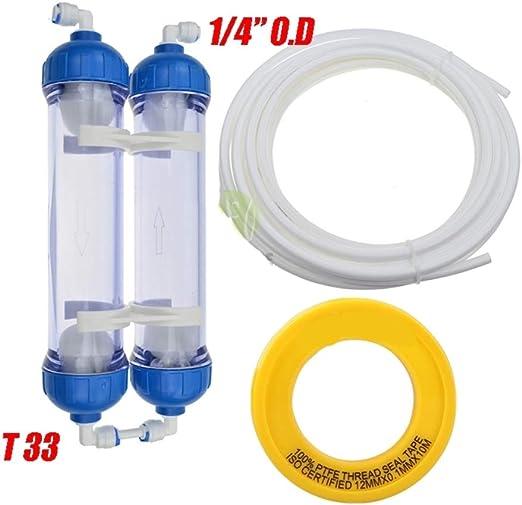 GRASSAIR Filtro de Agua 2pcs T33 Cartucho de Vivienda DIY T33 ...