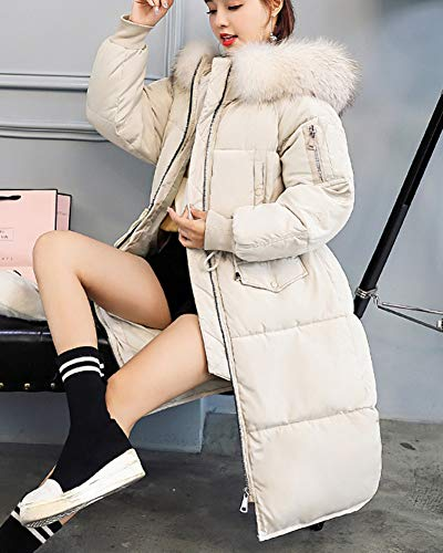 Parka Overcoat Imbottito Capispalla Addensato Women Warm Beige Winter Long Shaoyao Down Jacket Coat 4nwRxHqnTB