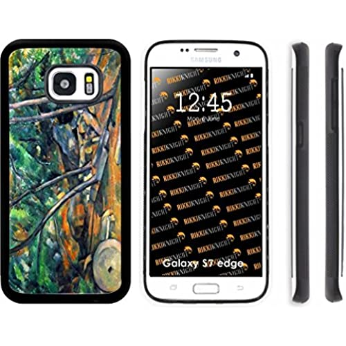 Rikki Knight Paul Cezzane Art Mill Stone Design Samsung Galaxy S7 Edge Case Cover (Black Rubber with front Bumper Protection) for Samsung Galaxy S7 Edge ONLY Sales