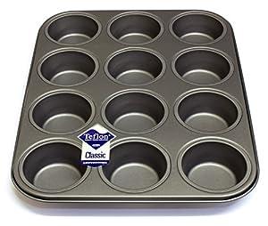 12 Hole Deep Muffin Pan Tin Baking Tray With Teflon 174 Tm
