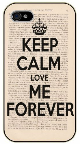 Amazon.com: iphone 5c Keep calm and love forever - black ...