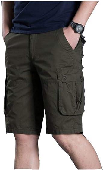 Anaisy Hombres Pantalones Cortos Bermudas Algodón Corto Carga ...