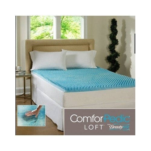 Beautyrest 3-inch Sculpted Gel Memory Foam Mattress Topper Queen by ComforPedic Loft (Loft Memory Foam Bed Topper)