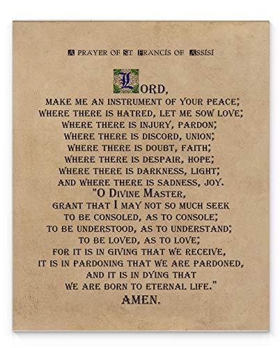 St Francis of Assisi Prayer Wall Art, 11