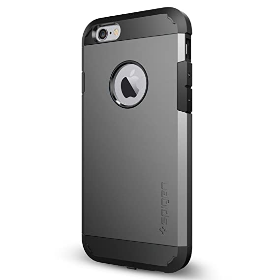 brand new 27765 60606 Spigen Tough Armor Volt iPhone 6 Case with Built-in Wireless Charge  Receiver/Rugged but Slim Dual Layer Protective Cover for iPhone 6 2014 -  Gunmetal