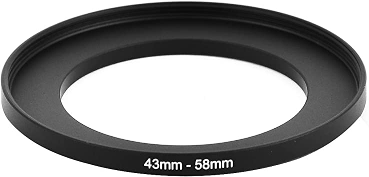uxcell Camera Repairing 43mm to 58mm Metal Step Up Filter Ring Adapter