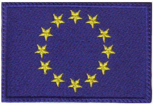 European Union EU Flag Embroidered Sew on Patch (Eu Flags)