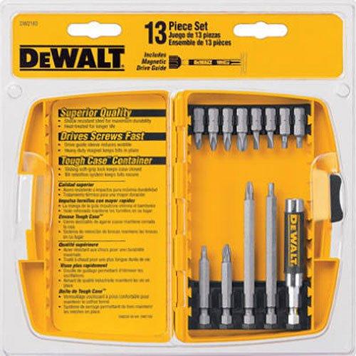 DEWALT DW2160 Bit Tip Assortment with Bit Tip Driver Set, 13-Piece