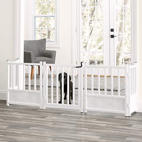 Royal Weave 3pc Freestanding Walk-thru Pet Gate Side Panel Stabilizers