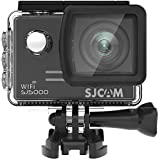 SJCAM Action Camera SJ5000 WIFI 14MP 1080p Ultra HD Waterproof Underwater Camera Large Screen Wide Angle Sports DV Camcorder for Diving Swimming Surfing Biking Wifi Cam- Black
