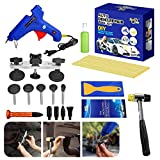 AUTOPDR 17Pcs DIY Auto Car Body Paintless Dent Removal Tools Kits Dent Puller Kit Tools Automotive Collision Repair Sets Hot Glue Gun Sticks for Vehicle Hail Damage and Door Ding