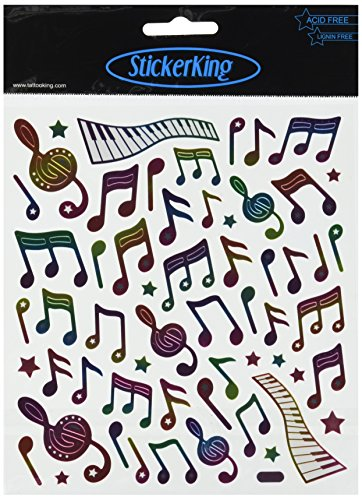 Tattoo King Multi-Colored Stickers-Music Notes