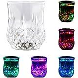 Casotec 7 Oz LED Light Blinking Octagonal Tumbler Cups with Sensor (Multicolour)