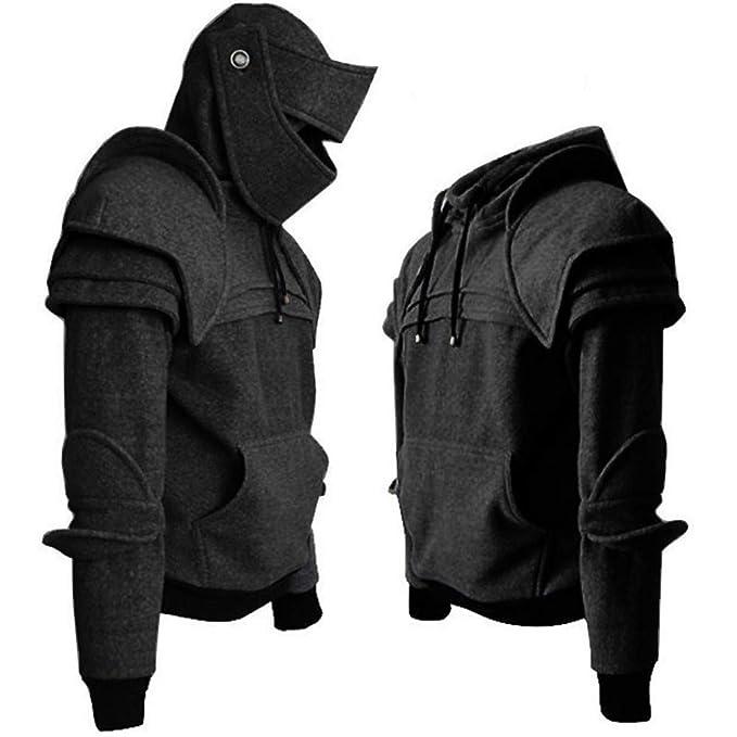 Amazon.com: Clearance! Mens Retro Mask Armor Knight Costume Hoodies Long Sleeve Pocket Hooded Pullover Sweatshirts: Clothing
