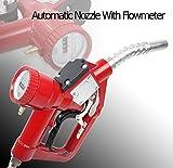 Fuel Gasoline Diesel Petrol Delivery Refill Gun Nozzle Dispenser W/Flow Meter