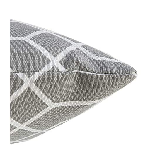 """TINA'S HOME 16"""" Grey Outdoor Pillows/Waterproof Geometric Throw Pillow for Patio Bench Swing Couch Decor(Set of 2) - ♥Product Includes: two (2) outdoor pillows, resists weather and fading in sunlight; Suitable for indoor and outdoor use ♥Plush Fill: 100-percent down alternative filling, offers extra back support and holds in shape ♥Easy Care - lightly spot clean or hand wash outdoor pillow fabric with mild detergent and cool water; then let air dry - patio, outdoor-throw-pillows, outdoor-decor - 51HNLN934qL. SS570  -"""