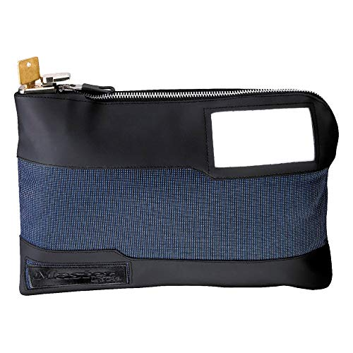 Bank Deposit Bag - Master Lock 7120D Money Bag with Key Lock 11-1/2 in. Long, Blue
