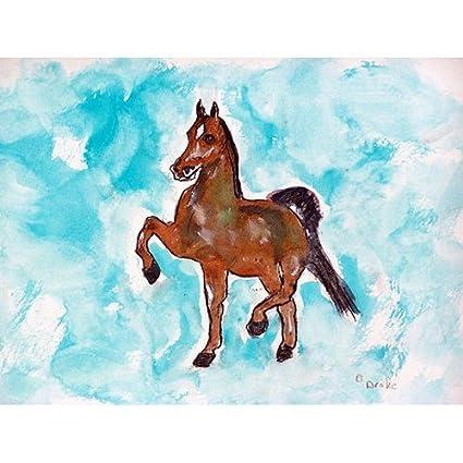 Betsy Drake Interiors Dancing Horse Doormat