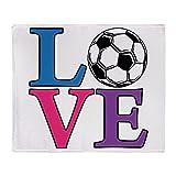 CafePress - Soccer LOVE - Soft Fleece Throw Blanket, 50''x60'' Stadium Blanket