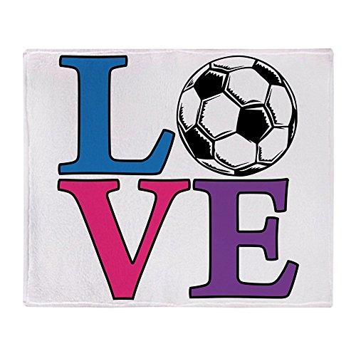 CafePress - Soccer LOVE - Soft Fleece Throw Blanket, 50''x60'' Stadium Blanket by CafePress