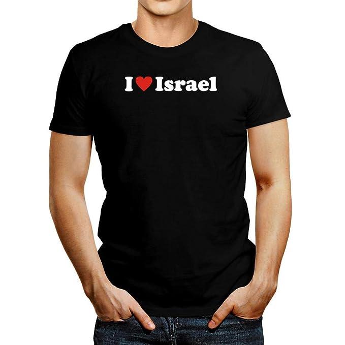 497d3f4ef Amazon.com: Idakoos I Love Israel T-Shirt: Clothing