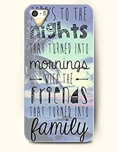 iPhone 5 5S Hard Case (iPhone 5C Excluded) **NEW** Case with Design Here'S To The Nights That Turned Into Mornings...