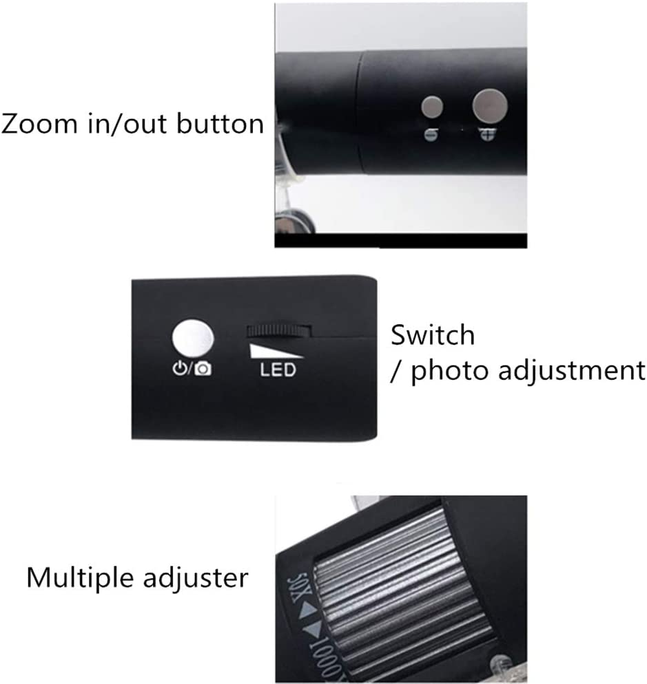Color : Blue, Size : Free Size Digital Microscope WiFi Wireless Digital Microscope 1000x Ultra High Handheld Industrial Beauty Detection USB Microscope Magnification Endoscope