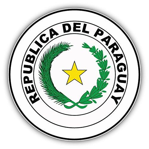 Paraguay Coat Of Arms Label Art Decor Bumper Sticker 5'' x 5''