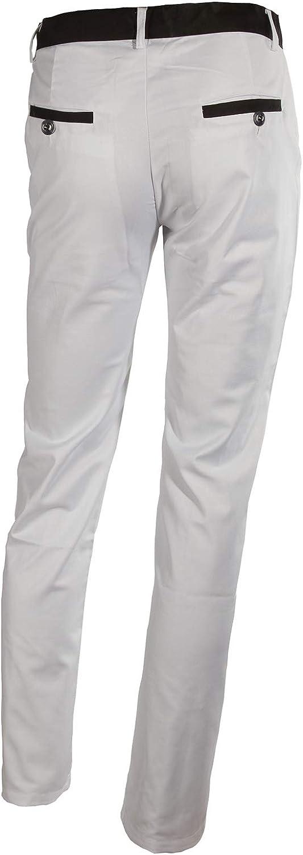 LANBAOSI Mens 1 Button White Dress Suit Jacket and Pants Sets